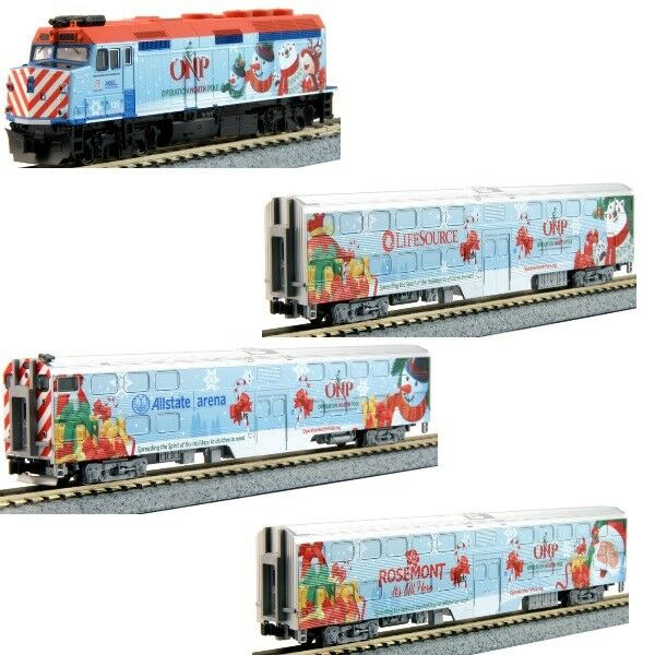 Kato 106-2016 N 2016 Operation North Pole Christmas Train 4-Unit Set