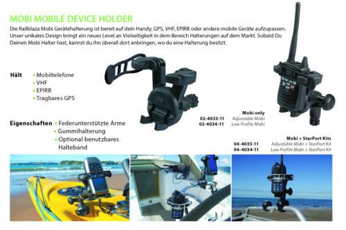 Handyhalter für Boote Railblaza 04-4034-11 Starport Set Low Profile Mobi