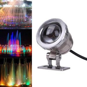 10w 12v rgb led unter wasser strahler licht ip65 wasserdicht teich aquarium ebay. Black Bedroom Furniture Sets. Home Design Ideas