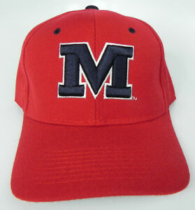 new style de0a1 c0680 Image is loading MISSISSIPPI-OLE-MISS-REBELS-RED-NCAA-VTG-FITTED-
