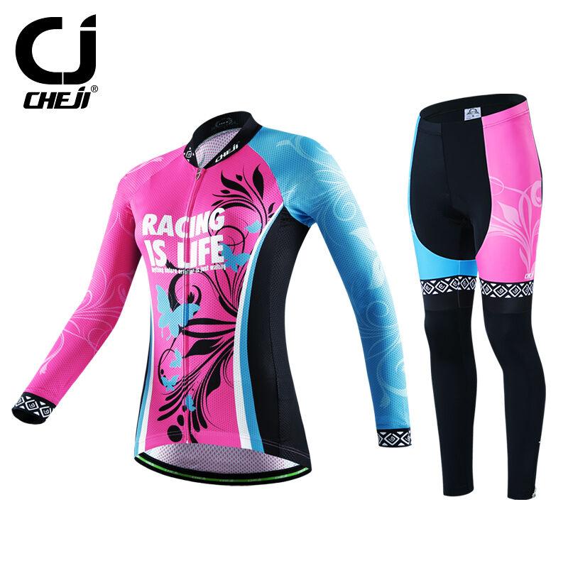 Wouomo Bike Jersey Pants Suits Pro Team Biking Jerseys Padded Bicycle Trousers