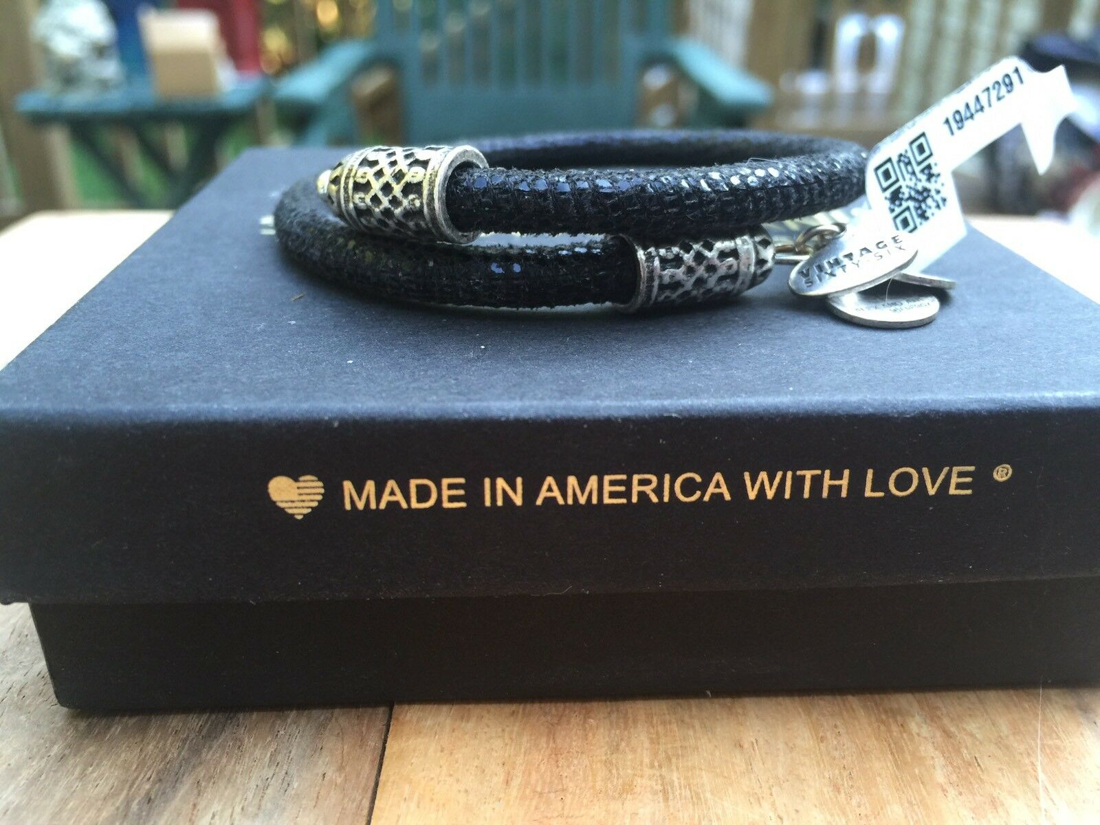 ALEX and ANI VINTAGE 66 MYSTIC TERRAIN Nights Mosaic EBONY Braided LEATHER WRAP
