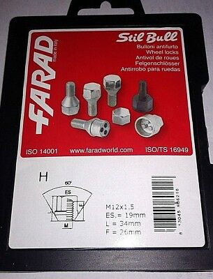 PER FORD B-MAX 2014/> KIT BULLONI ANTIFURTO FARAD STILL BULL H