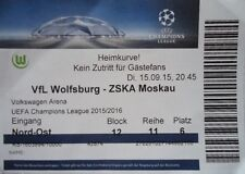 TICKET UEFA CL 2015/16 VfL Wolfsburg - ZSKA Moskau