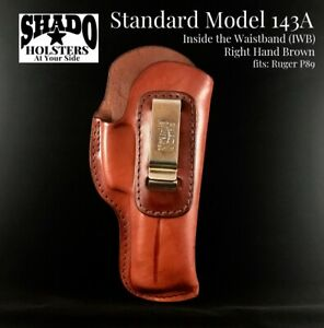 SHADO Leather Holster Standard Model 143A Right Hand Brown IWB fits Ruger P89