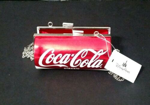 COCA-COLA CLASSIC RED CAN CROSSBODY,PURSE BAG Clutch Purse Silver  Coke Chain