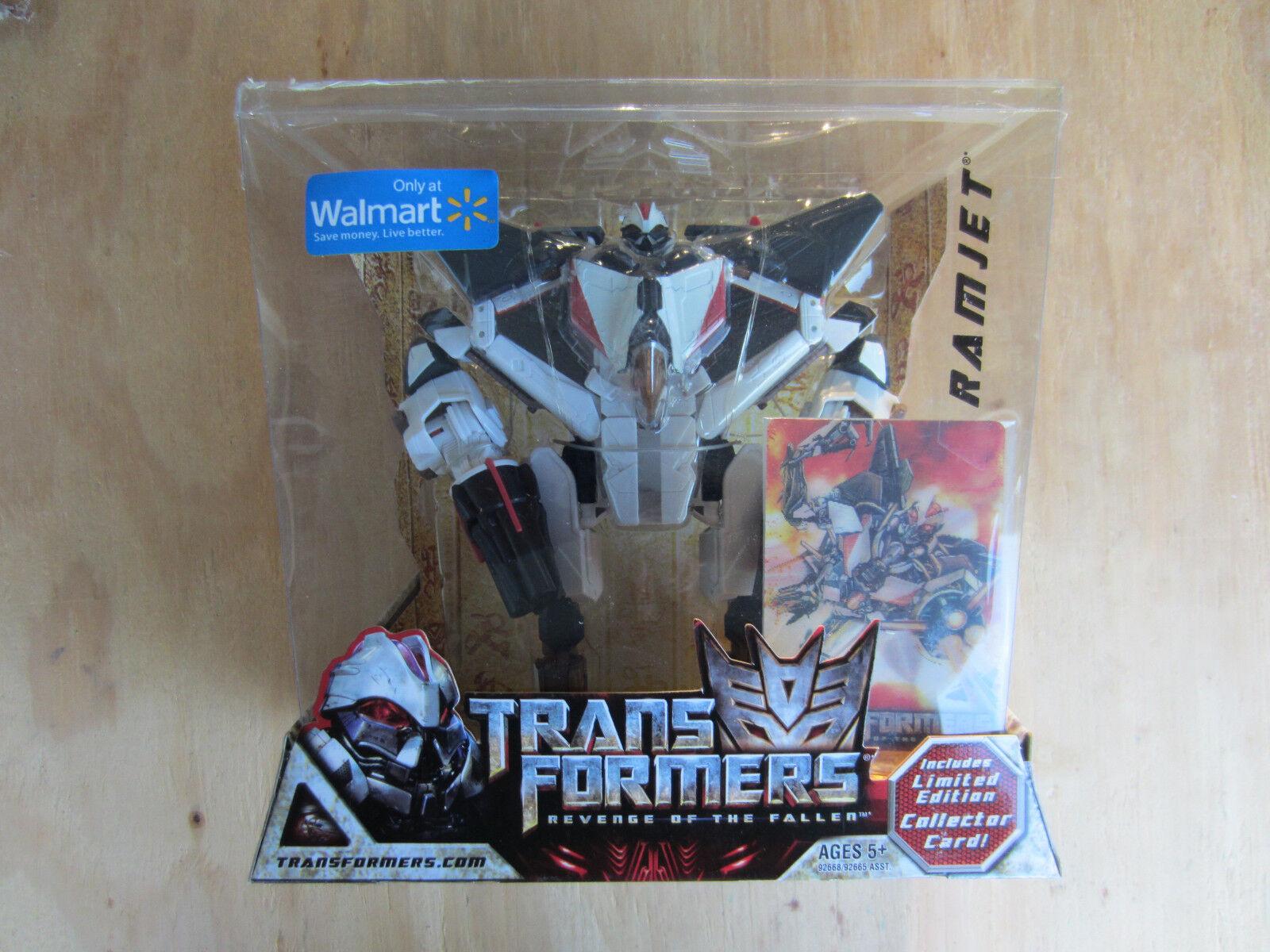 Transformers 2008 movie redF Decepticon Ramjet Walmart Excl+Collector Card MISB