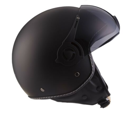 XS S M L XL Jet Helmet Motorcycle Helmet Scooter Helmet Retro Vespa Moped Moto h44 Matt B