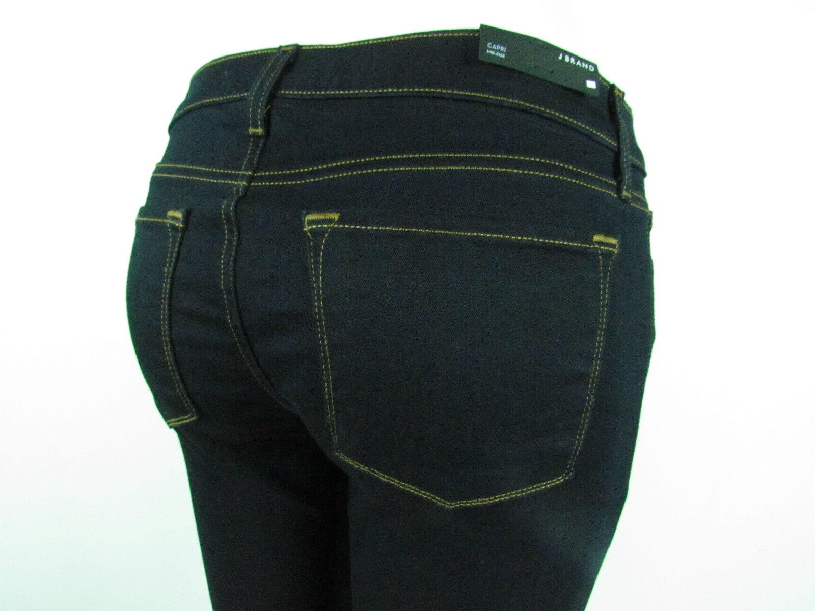 J BRAND 835 CAPRI CROP SKINNY LEG Mid Rise Women Jeans SZ 29 IN INK DARK blueE