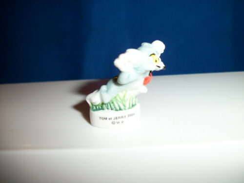 TOM CAT RUNNING CRAZY TONGUE OUT Mini Figurine Porcelain FEVES Figure /& Jerry