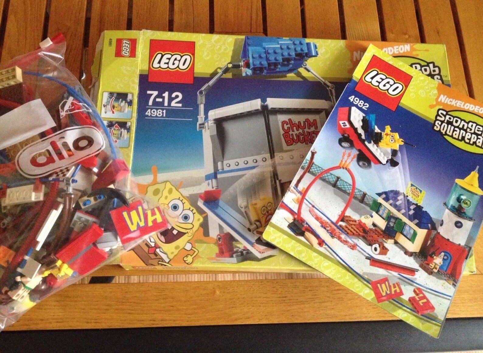 Spongebob Lego Set Chum Bucket Und Mrs.Puffs Fahrschule