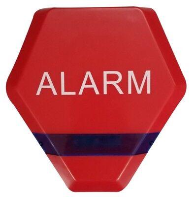 Solar Powered Dummy Alarm Siren Flashing LED/'s Plain Dummy Burglar Alarm Box