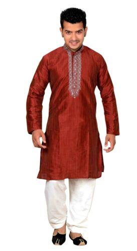 Herren Indian Maroon Sherwani Bollywood Kurta Shalwar Kameez für Eid 749