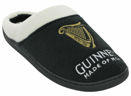 Mens Guinness Slippers Novelty Outdoor Indoor Soft Cushioned Padded Casual UKS-L