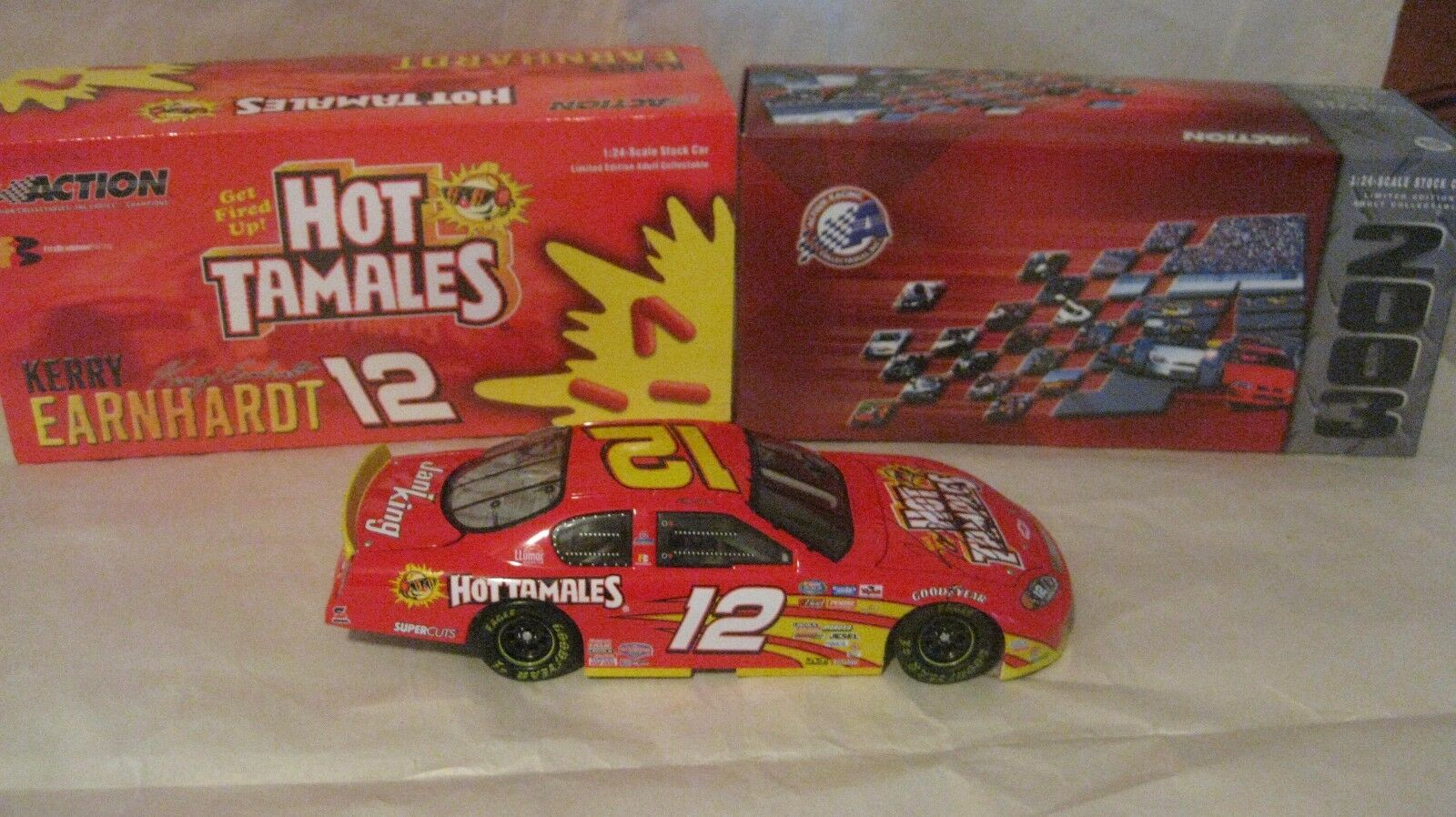 Nascar Kerry Earnhardt Signed Hot Tamales Monte Carlo 124 Scale Diecast 2003