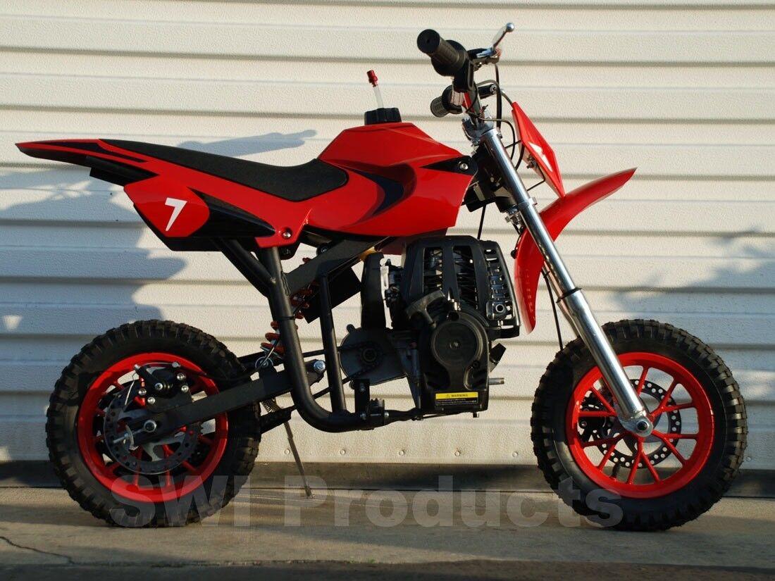 Gas powerosso mini dirt bike  pit bike for kids  no mixing  free shipping  rosso