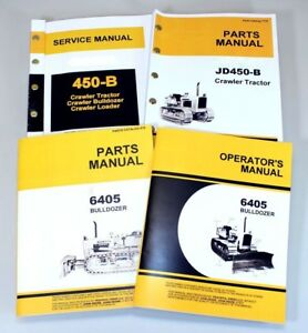 service manual set for john deere 450b crawler dozer tractor parts rh ebay com John Deere 450B Loader Parts John Deere 450B Dozer Manual