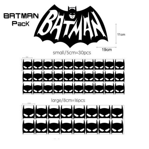 47 Pegatinas de Vinilo de pared grande pequeño Batman Niño Dormitorio Hogar Decoración Etiqueta De Papel Pintado