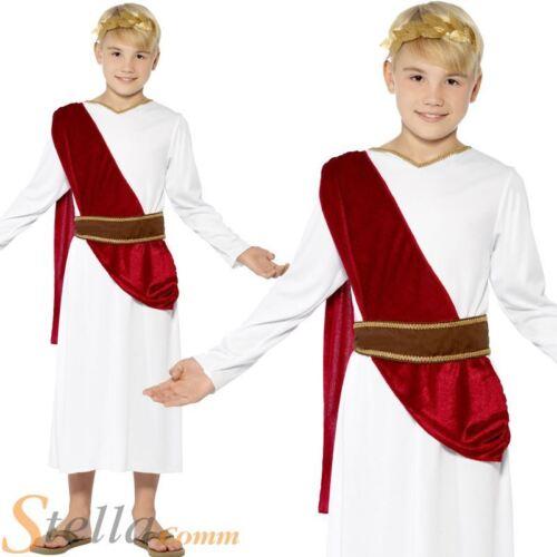 Boys Roman Costume Toga Fancy Dress Greek Emporer Caesar King Child Outfit