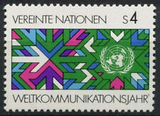United Nations Vienna 1983 SG#V29 World Communications Year MNH Set #A91981