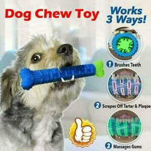 Chew-Toy-Dog-Puppy-Toothbrush-Pet-Molar-Tooth-Cleaning-Brushing-Stick-Doggy-New
