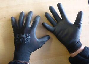100% hohe Qualität ausgewähltes Material Super süße Details zu 12x Montage Arbeitshandschuhe 9/L 10/XL / PU beschichtete  Handschuhe-rutschfest