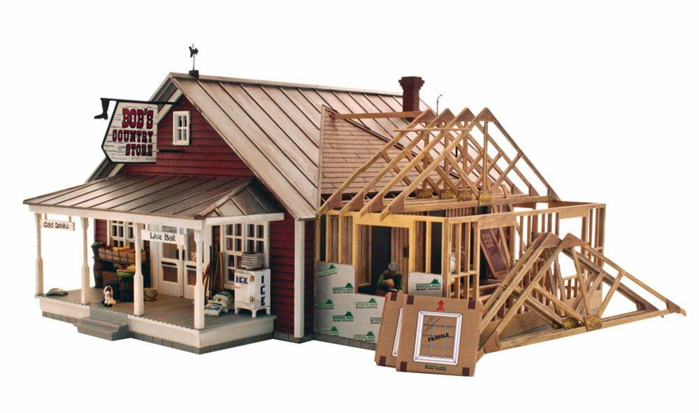 Woodland Scenics PF5894, O Scale, Landmark Building Kit, Country Store Expansion
