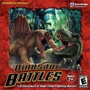 DINOSAUR-BATTLES-3D-Fighting-Action-PC-Windows-XP-Vista-7-8-Brand-New-Sealed