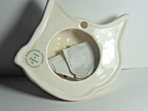 CAT HEAD Babbacombe Pottery STRING DISPENSER WHITE