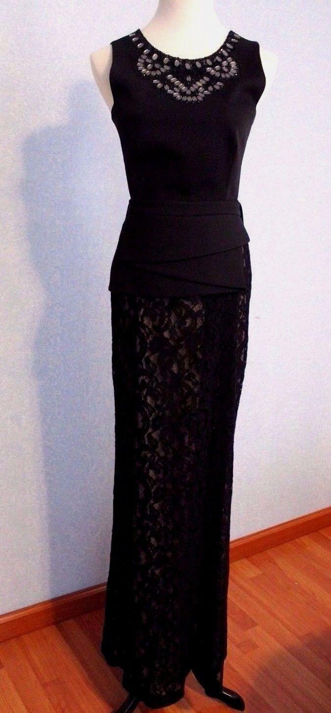 NEW BCBG MAX AZRIA KIARA SLEEVELESS PEPLUM LACE SKIRT DRESS SAMPLE SIZE 4