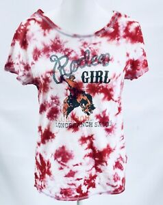 Outback-Trading-Company-Rodeo-Girl-Red-Tie-dye-Womens-Large-NWOT