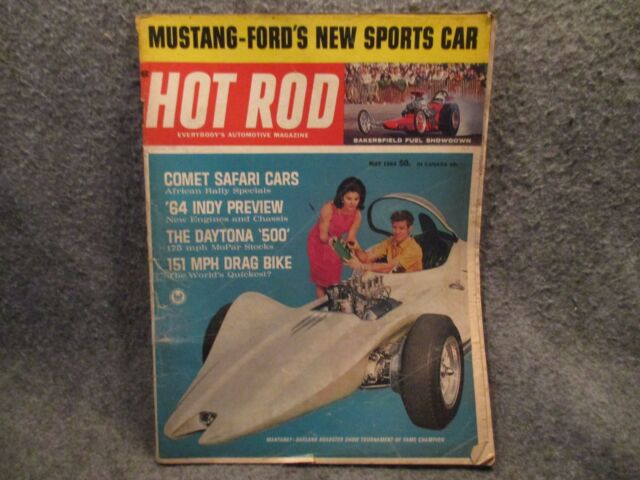 Hot Rod Magazine Volume 17 No 5 Vintage May 1964 Mustang Fords New Sport Car
