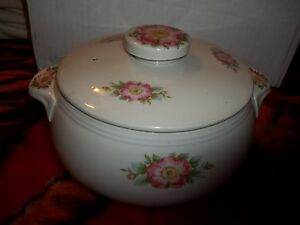 Hall\u2019s Superior Quality Kitchenware Vintage Rose White Tea Pot