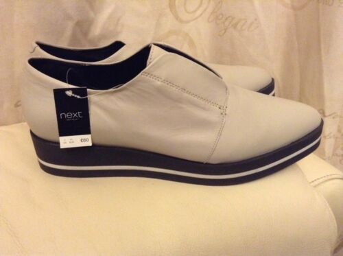 Flatform Leather 7 Rrp Eu £60 Size Grey 41 scarpe Light New❤️next Signature❤️ 8xEqE0
