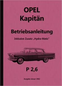 Opel-Kapitaen-P-2-6-Bedienungsanleitung-Betriebsanleitung-Handbuch-Hyra-Matic-2-6