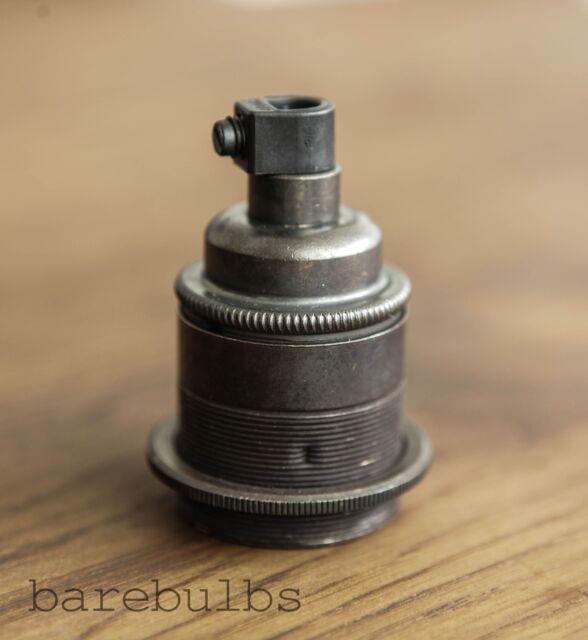 Vintage Bronze threaded E27/ES/Screw pendant bulb lamp holder   light fitting