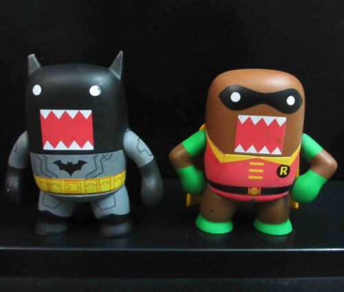 LOT OF 2 Domo DC Comics Mystery Minis ROBIN BATMAN FIGURE OLD,#SG5