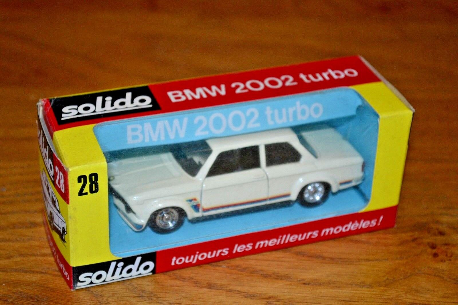 VINTAGE 1 43 in scatola Solido BMW 2002 Turbo; N. 28; ottime condizioni