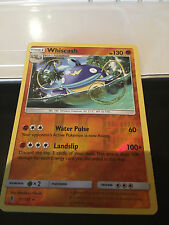 POKEMON SUN AND MOON GUARDIANS RISING - WHISCASH 71/145 (RARE REVERSE STAR HOLO)