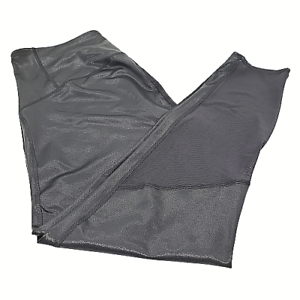 JoyLab-Women-039-s-Midrise-7-8-length-leggings-activewear-black-shimmer-print-XXL