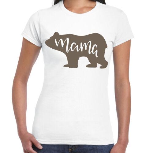 T-Shirt Femme Maman Ours Cadeau Amusant T-Shirt