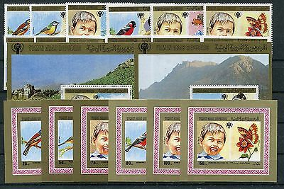 Einzelblocks Block 199/200 Postfrisch 1/3603 Fest In Der Struktur Jemen B 1602/07 A Nordjemen