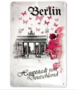 Tin-Sign-Berlin-Brandenburg-Gate-Metal-30-CM-Nostalgia-Metal-Shield-New