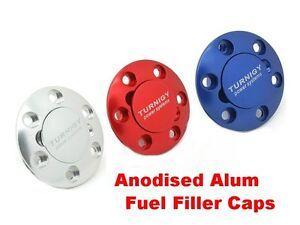Fuel Filler Caps Fuel Dot Anodised Aluminium 4 Petrol Gas Jet Glow 4 colours UK