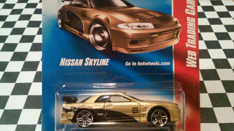 Hot wheels Gold nissan skyline - trading card autos 2007