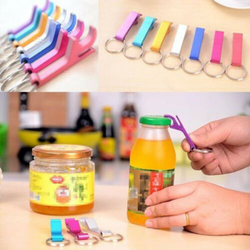 2Pcs Portable 4in1 Bottle Opener Key Ring Chain Keyring Metal Beer Bar Tool Claw