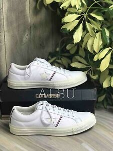 Habitar Médula Capilares  Sneakers Men's Converse One Star Leather Low Top White Enamel Red 159694c |  eBay