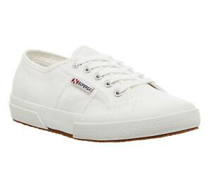 Femme-SUPERGA-2750-Baskets-Blanc-Baskets-Chaussures