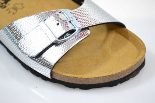 Longo Snake Sandalen Neu Fussbett Silber Normal Madrid Titan Pantoletten O4wwdYqz