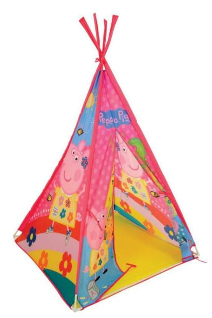 competitive price 7c35f d58e0 Peppa Pig TeePee Wigwam Kids Childs Play Tent Girls Themed Toy Outdoor  Indoor